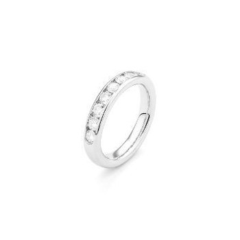 Demi-alliance EMMA or blanc 750/°° diamants 1 carat