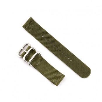 Bracelet NATO  vert kaki largeur 20 mm