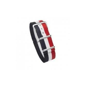 Bracelet NATO couleurs bleu, blanc, rouge