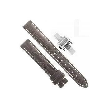 LONGINES, bracelet alligator marron collection MASTERCOLLECTION largeur 13 mm avec boucle déployante
