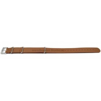 Bracelet lanière vachette marron chocolat largeur 20 mm