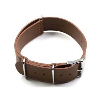 Bracelet lanière vachette marron largeur 18 mm