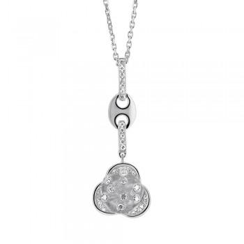 Pendentif or blanc 750 /°° diamants 0.30 carat