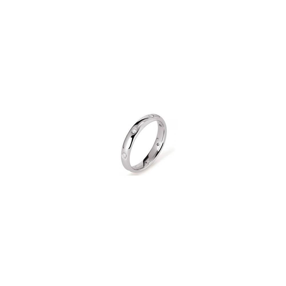 PONCE OR Alliance AMIRAL or blanc palladié 750 /°° diamants 0.14 carat