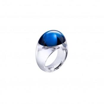 BACCARAT, Bague collection TANGO cristal clair bleu