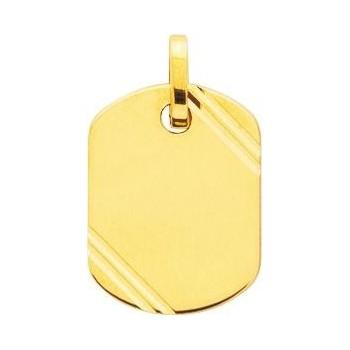Pendentif MAXIME or jaune 750/°° plaque ciselée
