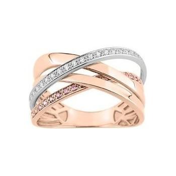 Bague MANUELA or rose 750 /°° diamants 0,20 carat