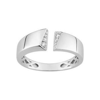 Bague ROSALIA or blanc 750 /°° diamants 0,07 carat