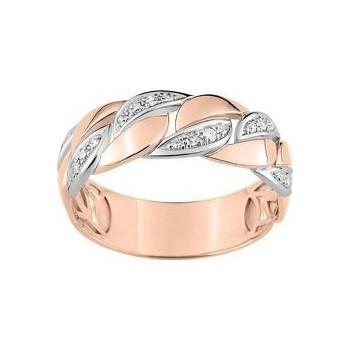 Bague  CROISIERE or rose or blanc 750 /°° diamants 0,084 carat