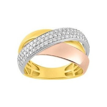 Bague ADDISON or jaune or rose 750 /°° diamants 0,53 carat