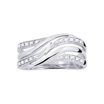 Bague SLOWLY or blanc 750 /°° diamants 0,09 carat