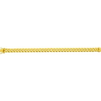 Bracelet EYMERIC or jaune 750 /°° mailles gourmette largeur 9 mm