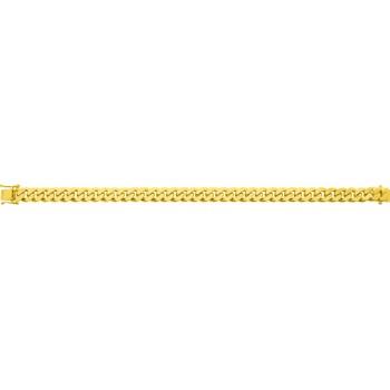 Bracelet EYMERIC  or jaune 750 /°° mailles gourmette largeur 8 mm