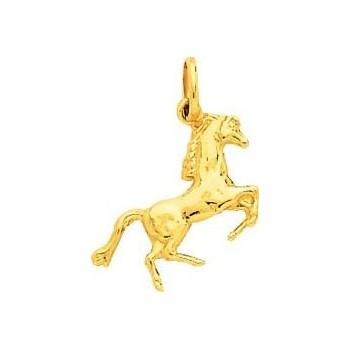 Pendentif JUMPER cheval or jaune 750 /°°