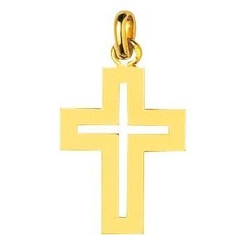 Croix SONGERIE or jaune 750 /°° ajourée