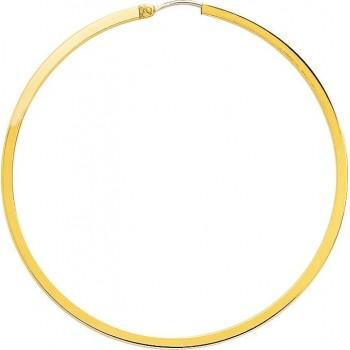 Boucles d'oreilles UZES or jaune fil carré diamètre 55 mm