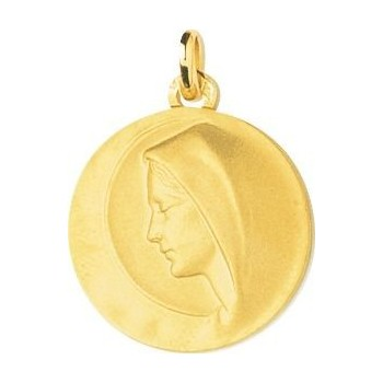 Médaille Vierge JEANNE or jaune 750 /°° diamètre 20 mm