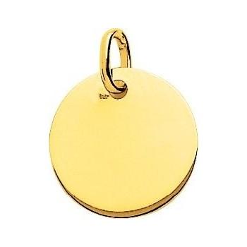 Médaille BAHIA or jaune 750 /°° jeton plané épais diamètre 16 mm