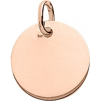 Médaille BAHIA or rose 750 /°°  diamètre 16 mm
