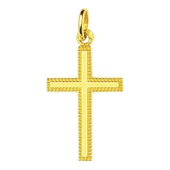 Croix GEORGIA or jaune 750 /°° dimensions 26 mm x 13 mm