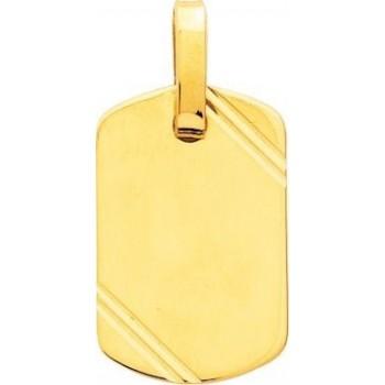 Pendentif or jaune CARTHAGE or jaune 750 /°° dimensions 25 mm x 16 mm