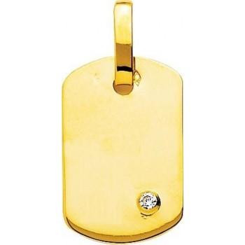 Pendentif SPARTE or jaune dimensions 24 mm x 15 mm