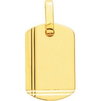 Pendentif CAPITOLE or jaune 750 /°° dimensions 24 mm x 15 mm