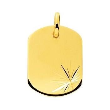 Pendentif GARY  or jaune 750 /°° dimensions 22 mm x 16 mm