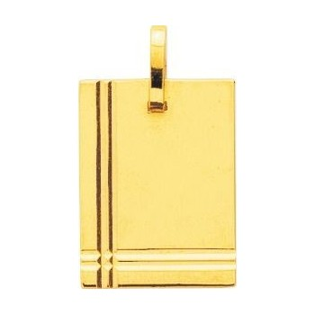 Pendentif CHUCK  or jaune 750 /°° dimensions 25 mm x 16 mm