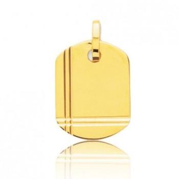 Pendentif UMBERTO or jaune 750 /°° dimensions 20 mm x 15 mm