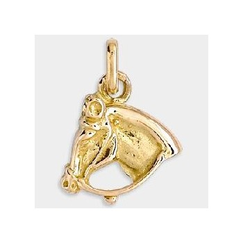 Breloque CHEVAL or jaune 750 /°° dimensions 10 mm x 13 mm