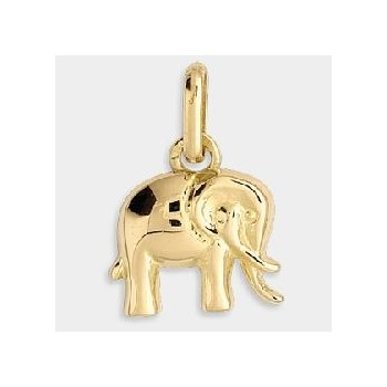 Breloque ELEPHANT or jaune 750 /°° dimensions 8 mm x 10 mm