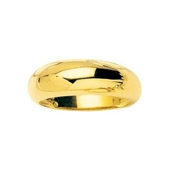 Bague DEBBIE jonc or jaune 750/°° largeur 8 mm