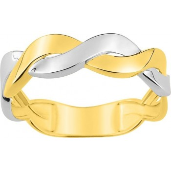 Bague AMY or jaune or blanc 750/°° largeur 5 mm