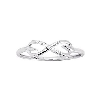 Bague ETERNITY or rose 750 /°° diamants 0,02 carat