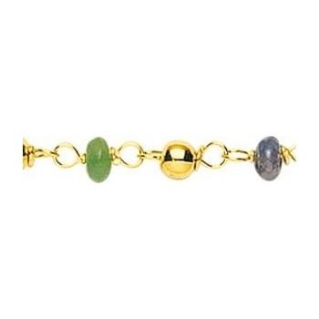 Bracelet SALOME or jaune 750 /°° saphirs rubis émeraudes