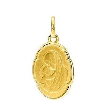 Médaille Vierge SABINE or jaune 750 /°° dimensions 22 mm x 12 mm