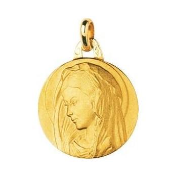 Médaille Vierge GISELE or jaune 750 /°° diamètre 18 mm