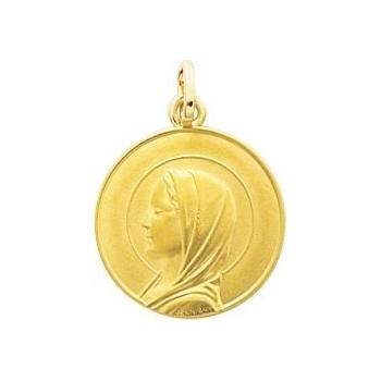Médaille Vierge DANIELLE or jaune 750 /°° diamètre 16 mm