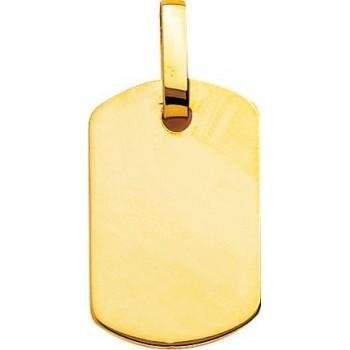 Pendentif BRANDO or jaune 750 /°° dimensions 15 mm x 24 mm