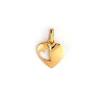 Pendentif LIZA  cœur ouvert or jaune 750 /°°