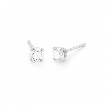 Boucles d'oreilles or blanc 750/°° diamants 0.50 carat GVS certifiés HRD Anvers