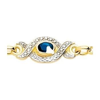 Bracelet SLAGNE or jaune 750 /°° diamants saphirs