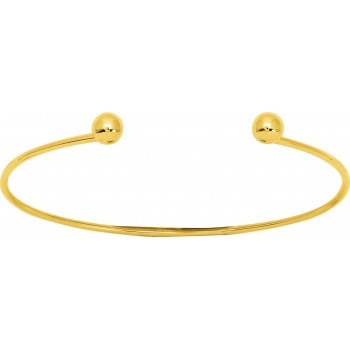 Bracelet NINO or jaune 750 /°° rigide boules 6 mm