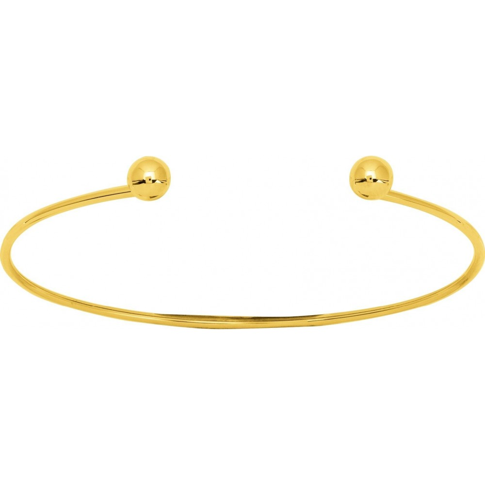 Bracelet NINO or jaune 750 /°° rigide boules 6 mm