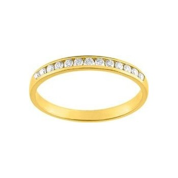 Demi-alliance RAIL or jaune 750 /°° diamants 0,10 carat