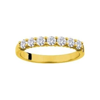 Demi-alliance GRIFFE or jaune 750 /°° diamants 0,50 carat