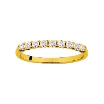 Demi-alliance GRIFFE or jaune 750 /°° diamants 0,35 carat
