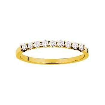 Demi-alliance GRIFFE or jaune 750 /°° diamants 0,26 carat