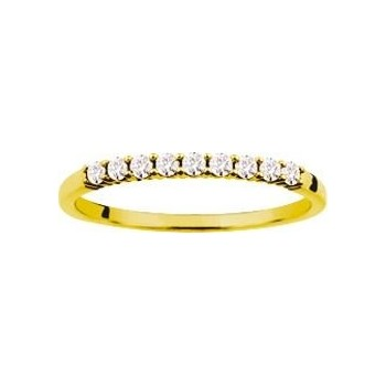 Demi-alliance GRIFFE or jaune 750 /°° diamants 0,18 carat